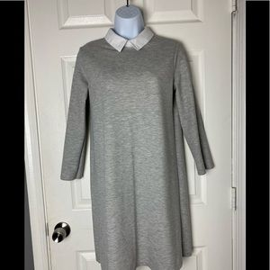 Zara Gray Collard Dress